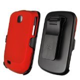 Beyond 3-In-1 Combo Case and Holster for Samsung Dart T499 - Non-Retail Packaging - Red (Samsung Dart Case compare prices)