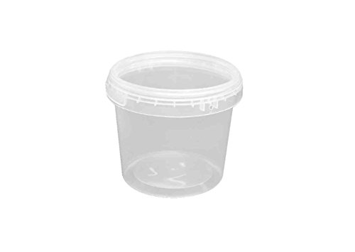 Choice-Pac 3So-1662 Polypropylene Round Tub With Lid, Semi-Clear, 36-Ounce (Case Of 100)