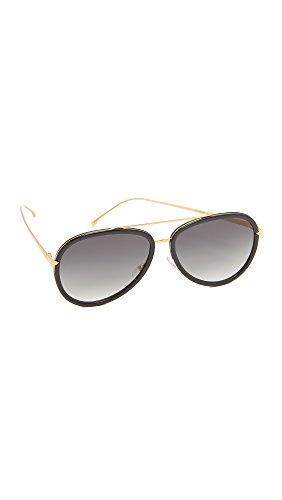 fendi-womens-funky-angle-aviator-sunglasses-black-gold-grey-one-size