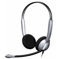 Sennheiser SH 350 beidseitiges Headset Large Ear Caps Noise Cancelling Mikrofon