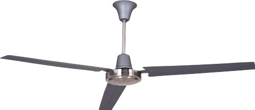 Litex UT56TBC3M Utility Collection 56-Inch Ceiling Fan with Wall Control, Three Titanium Blades and Titanium/Brushed Chrome Finish (Circular Ceiling Fan compare prices)