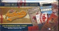 2003 Fleer Authentix Baseball Cards Hobby Box