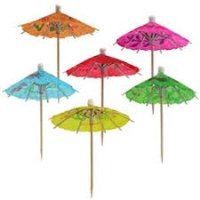 Madcaps The party Shop Cocktail Umbrella Toothpicks (Set of 3packs)