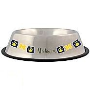 Pet Goods NCAA Michigan Wolverines Stainless Steel Bowl