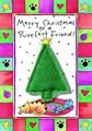 "Crunchkins "" Merry Christmas to Purr-Fect Friend Catnip Toy Greeting Card"