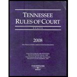 Tennessee Rules of Court-State 08