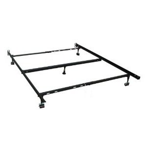 Milliard Milliard Heavy Duty Adjustable Full/Queen Metal Deluxe Bed Frame with Center Support and Rug Rollers