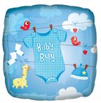 "Anagram International Baby Boy Onesie Foil Balloon, 18"", Multicolor"