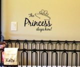 The princess sleeps here! Vinyl Decal Matte Black Decor Decal Skin Sticker Laptop (Southern Princess Decal compare prices)