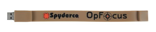 Spyderco Usb Flash Drive Wristband, Desert Tan Rubbber