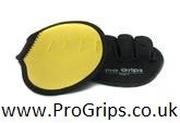 Pro Grips Weight Lifting Leather Gym Gloves (Yellow) from Pro Grips
