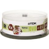 TDK DVD+RW 4x 4.7GB (25-Pack Spindle )