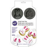 Wilton 2105-0223 Bunny Cake Pan, Mini, Assorted (Rabbit Cake Pan compare prices)