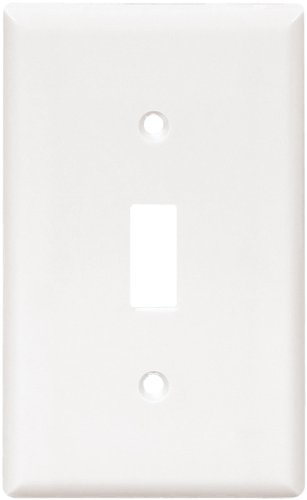 Cooper Wiring Devices 2134W-Sp-L Thermoset 1-Gang Standard Size Toggle Wall Plate, White