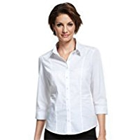 M&S Collection Classic Collar Pleated Shirt