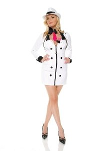 Mobster Minx White X-Large Costume
