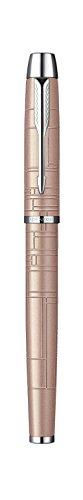 Parker IM Premium - Bolígrafo de tinta gel de punta fina cromado con caja, color rosa metálico