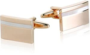 Mother of Pearl Rose-Gold Tone Cufflinks by Cuff-Daddy
