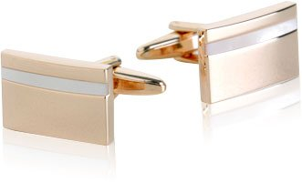 Cuff-Daddy Mother Of Pearl Rose-Gold Tone Cufflinks