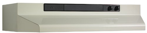 Broan 463002 Under-Cabinet Range Hood with Infinitely Adjustable Speed Control, 30-Inch, Bisque (30 Inch Stove Top Cover compare prices)