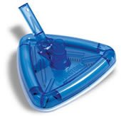 Clear Triangular Vacuum Head - Deluxe For Telescoping Pole For Swimming Pools