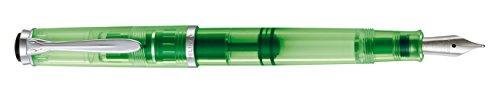 Pelikan【ペリカン】 M205 DUO 万年筆 ペン先BB(極太字) shiny green(シャイニーグリーン) 専用ハイライターボトルインク30ml セット〔正規輸入品〕