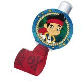 Disney Jake and the Never Land Pirates Blowouts (8) Party Accessory