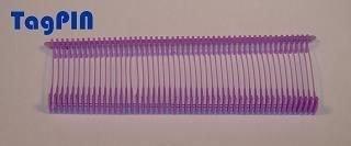 Kunststofffäden standard tagPin 25 mm (10000 fins) mauve