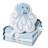 Circo' Newborn Boys' 3 Pack Wascloth Set With Scrubbie - Blue