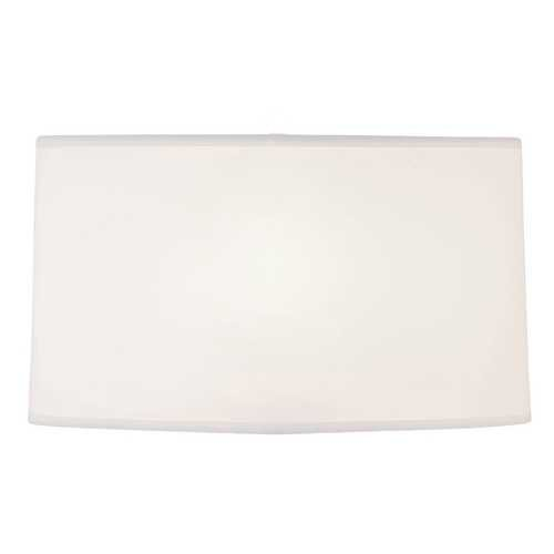 Large White Oval Linen Shade from Destination Lighting