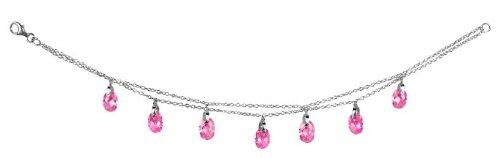 Studio 925 Chloe Pink CZ Briolette Sterling Silver Bracelet