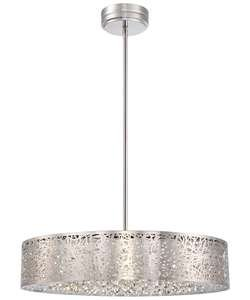 "Kovacs P986-077-L 1 Light 5.75"" Height Drum Led Pendant From The Hidden Gems Col, Chrome"