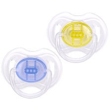 Philips AVENT Translucent Pacifiers, Newborn Assorted Colors - 1