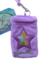 Disney Tinkerbell Cell Phone Camera Mp3 Purple Plush Pouch Bag