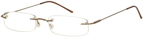 Sunoptic OR17C Coffee Colour Reading Glasses - Strength +1.00 Including Case