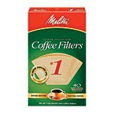 No. 1 Cone Coffee Filter In Natural Brown 40 Ct (Pack Of 6)