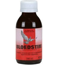 MedPet Bloedstim 100 ml. Vitamin, mineral, trace element and iron supplement. For Pigeons, Birds & Poultry
