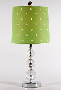 Green Clear Lamp Table Balls Polka Dot Lamp Shades Shade Polka