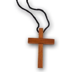 48 Wholesale Wooden Cross Necklaces - 1