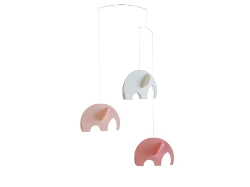 Flensted Mobiles Nursery Mobiles, Olephant Mobile Pink