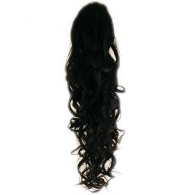 Stunning Off black Wavy clip in on synthetic ponytail hair extension