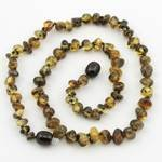 The Art Of Curetm *Safety Knotted* Green - Baltic Amber Baby Teething Necklace -(Unisex) - Certified Baltic Amber Baby Teething Necklace Highest Quality Guaranteed- Anti Inflammatory, Drooling & Teething Pain. Easy To Fastens With A Twist-In Screw Clasp M