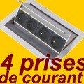 Evoline fliptop 4 bo tier cuisine inoxydable bloc prise for Prise escamotable cuisine