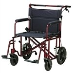 "22"" Bariatric Transport Chair with 12"" Rear ""Flat Free"" Wheels from Drive Medical"