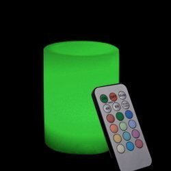 Candle Choice 3.1*5'' Paraffin Wax Even Edge Round Pillar Multi-color Flameless LED Candle With Remote