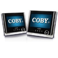 Coby TFDVD7751 7-Inch Tablet Portable Dual Screen DVD Player, Black