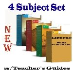 img - for New Lifepac Grade 4 AOP 4-Subject Box Set (Math, Language, Science & History / Geography, Alpha Omega, 4TH GRADE, HomeSchooling CURRICULUM, New Life Pac [Paperback] book / textbook / text book