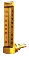 CNJW Brass 90 Degree Angle V-Shape Thermometer 8\