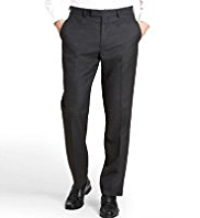 Machine Washable & Tumble Dry Birdseye Flat Front Trousers
