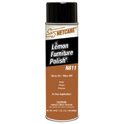 Zoom Supply Netcare N811 Furniture Polish, Professional-Grade Lemon Furniture Polish -- Protects $$$ & Delicate Wood